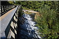 SU4366 : River Kennet over a weir by N Chadwick