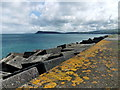 SM9539 : North breakwater, Fishguard harbour (5) by ceridwen