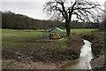 TQ3199 : Cuffley Brook, Crews Hill by Peter Trimming