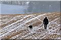 NT4934 : Winter walking on Gala Hill by Walter Baxter