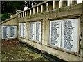 SE1409 : Holme Valley Memorial Hospital: names (left) by Stephen Craven