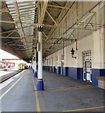 SX9193 : British Transport Police office on Exeter St Davids railway station by Jaggery