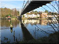 SJ4165 : Below the suspension bridge by John S Turner