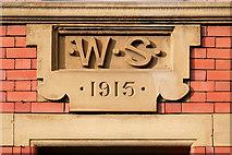 SJ8498 : Stovell's Building Datestone (1915) by David Dixon