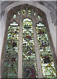 TQ5203 : St Andrew, Alfriston: stained glass window (i) by Basher Eyre