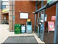 SJ9295 : Recycling bins at Morrisons by Gerald England