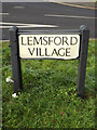 TL2111 : Lemsford Village sign by Geographer