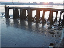 TQ4179 : The Thames at sunset from Thames Barrier Park by Marathon