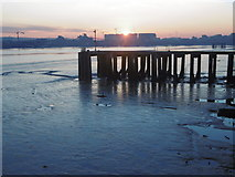 TQ4179 : Thames sunset from Thames Barrier Park by Marathon