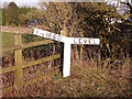 SK2255 : The gradient post at Longcliffe Station by Ian Calderwood