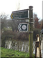 TL2013 : Footpath sign off Waterend Lane by Adrian Cable