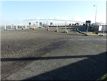 TR3140 : Fencing across entrance to Prince of Wales Pier by John Baker