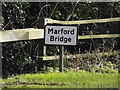TL1814 : Marford Bridge sign by Adrian Cable