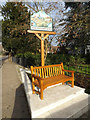 TL1714 : Wheathampstead Village sign by Adrian Cable