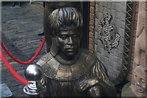 TQ2884 : View of an African statue in the Camden Lock Market by Robert Lamb