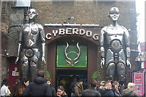 TQ2884 : View of the Cyberdog shopfront in Camden Lock Market by Robert Lamb