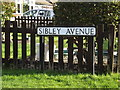 TL1413 : Sibley Avenue sign by Adrian Cable