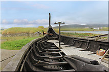 HP6311 : Viking Ship and House by Des Blenkinsopp