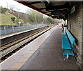 SO1500 : Turquoise bench on Bargoed railway station by Jaggery
