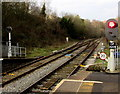 SO1500 : Signals facing Bargoed railway station by Jaggery