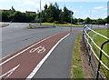 SJ6571 : Cycle lane along Kingsmead by Mat Fascione