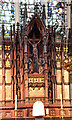 TQ3689 : St Michael & All Angels, Palmerston Road - Reredos detail by John Salmon
