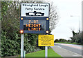 J5073 : Ferry weight limit sign, Newtownards (January 2016) by Albert Bridge