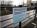 ST1494 : Byelaw 14 notice, Ystrad Mynach railway station car park by Jaggery