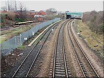 SE2932 : Railway at Holbeck, looking west by Stephen Craven