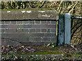 SK8316 : Rivet bench mark, Station Road bridge by Alan Murray-Rust