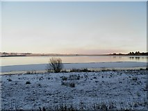 NO5038 : A winter scene at the northern reservoir at Monikie by Douglas Nelson