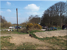 SK0407 : People pressure near the beach, Chasewater country park by Robin Stott