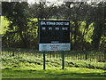 TM0959 : Earl Stonham Cricket Club score board by Adrian Cable