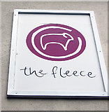 SP3509 : The Fleece (4) - signage, 11 Church Green, Witney, Oxon by L S Wilson