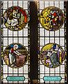SK9772 : Stained glass window detail, St Nicholas' church, Lincoln by Julian P Guffogg