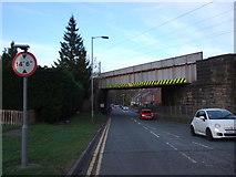 NZ2540 : Railway bridge over the A690, Langley Moor by JThomas