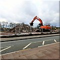 SJ9495 : Clearing the site of Wharf Mill by Gerald England