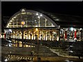 SJ3590 : Lime Street Station at Night by David Dixon