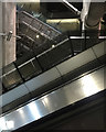 TQ3079 : Jubilee Line escalator hall, Westminster Underground Station, London by Robin Stott