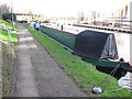 TQ1677 : Steely Dan, narrowboat on Grand Union Canal winter moorings by David Hawgood
