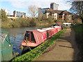 TQ1777 : Papillon, narrowboat on Grand Union Canal winter moorings by David Hawgood
