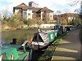 TQ1777 : Wanapitei, narrowboat on Grand Union Canal winter moorings by David Hawgood
