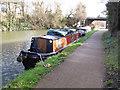 TQ1777 : Sapphire, narrowboat on Grand Union Canal winter moorings by David Hawgood