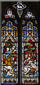 TF0836 : Stained glass window, St Peter's church, Threekingham by Julian P Guffogg