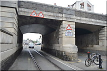 SY6778 : Town Bridge crosses the railway by N Chadwick