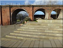 SO8455 : Worcester railway viaduct by Philip Halling