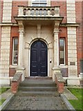 SO8455 : Door and portal, University of Worcester by Philip Halling