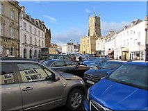 SP0202 : Market Place parking area, Cirencester by Jaggery