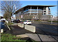 ST3187 : Two concrete blocks at the edge of Usk Way, Newport by Jaggery