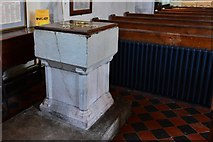 TQ5203 : Alfriston: St. Andrew's Church: The font by Michael Garlick